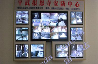 绵阳平武报恩寺安防中心本地网络视频监控系统